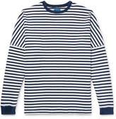 Beams Indigo-Dyed Striped Cotton T-Shirt