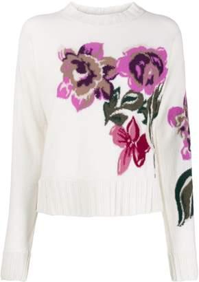 Ballantyne floral knit jumper