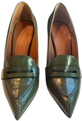 Celine Green Leather Heels