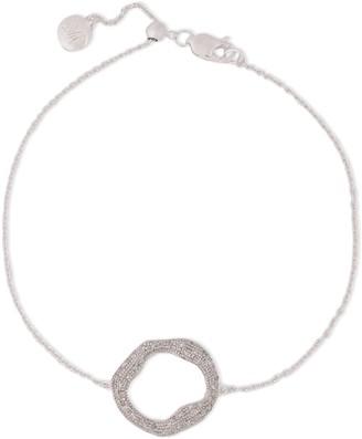 Monica Vinader Riva Sterling Silver Diamond Bracelet