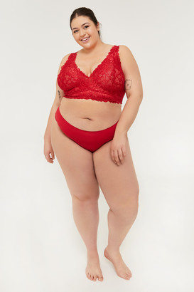 Ardene Plus Size Red Lace Cheeky Panties