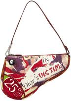 Christian Dior Saddle cloth handbag