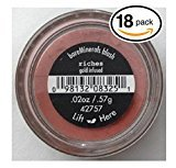 Bare Escentuals (PACK OF 18) Bare Minerals RICHES (42757) Blush Makeup. Gold Infused! WARM EARTH PINK. Ideal for ALL Skin Types. (Pack of 18 Compacts, .02oz Each)