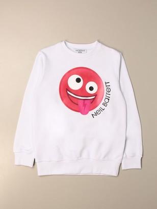 Neil Barrett Crewneck Sweatshirt With Smile Print