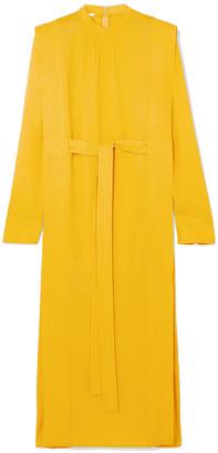 Stella McCartney Belted Cady Midi Dress