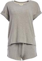 Lucky Brand Women's Sleep Bottoms Hthr - Heather Gray Short-Sleeve Pajama Set - Women
