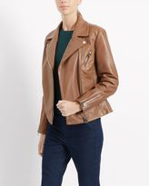 Jaeger Leather Zip Biker Jacket