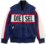 Diesel Blue and Navy Reversible Bomber Jacket