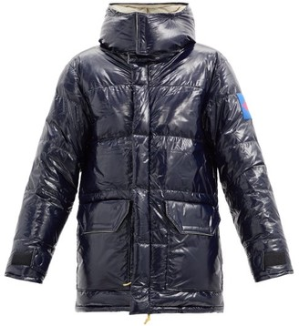 The North Face Heritage Logo-patch Quilted Down Ripstop Jacket - Navy