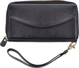 Royce Leather Women's Saffiano Slim Cellphone Wallet