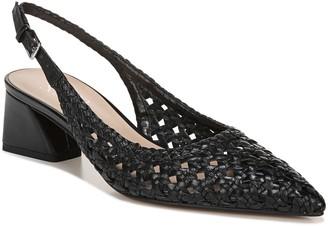 Franco Sarto Woven Leather Block-Heel Slingbacks - Ray