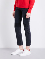 Helmut Lang Patchwork-detail slim-fit high-rise jeans