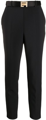 Elisabetta Franchi High-Rise Cropped Skinny Trousers