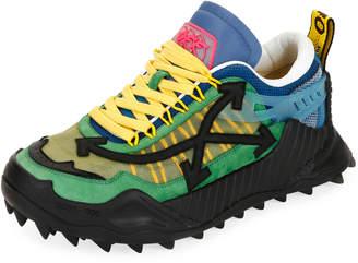 Off-White Men's Odsy-1000 Arrow Colorblock Sneakers, Dark Green