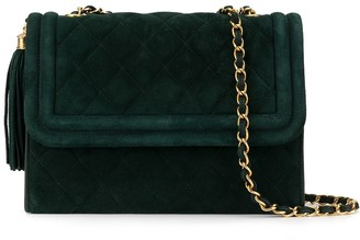 Chanel Pre-Owned 1990's quilted fringe chain shoulder bag
