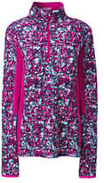 Lands' End Women's Active Half-zip Pullover-Deep Pink Print