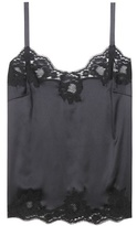 Dolce & Gabbana Lace-trimmed silk top
