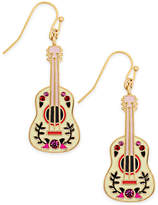 Kate Spade Gold-Tone Guitar Drop Earrings