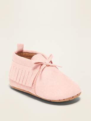 Old Navy Faux-Suede Moccasin Booties for Baby