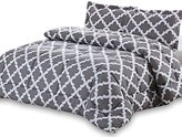 Utopia Bedding Printed Comforter Set (Grey, Twin) with 1 Pillow Sham - Luxurious Soft Brushed Microfiber - Goose Down Alternative Comforter