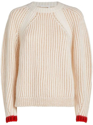 Chloé Wool-Blend Ribbed Sweater
