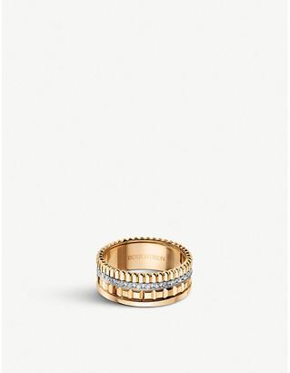 Boucheron Quatre Radiant Edition yellow-gold and 0.25ct diamond ring