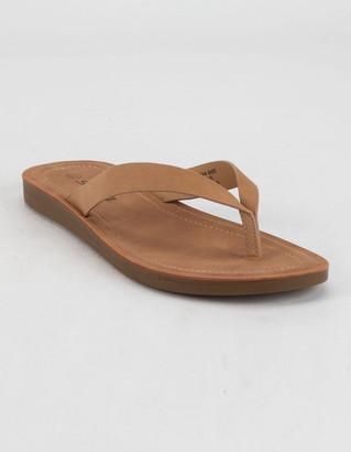 Soda Sunglasses Faux Suede Womens Black Sandals