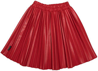Moi Solid Pleats Skirt