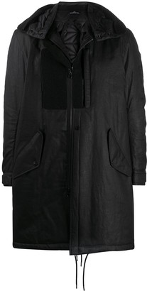 Stone Island Shadow Project Hooded Patchwork Parka Coat
