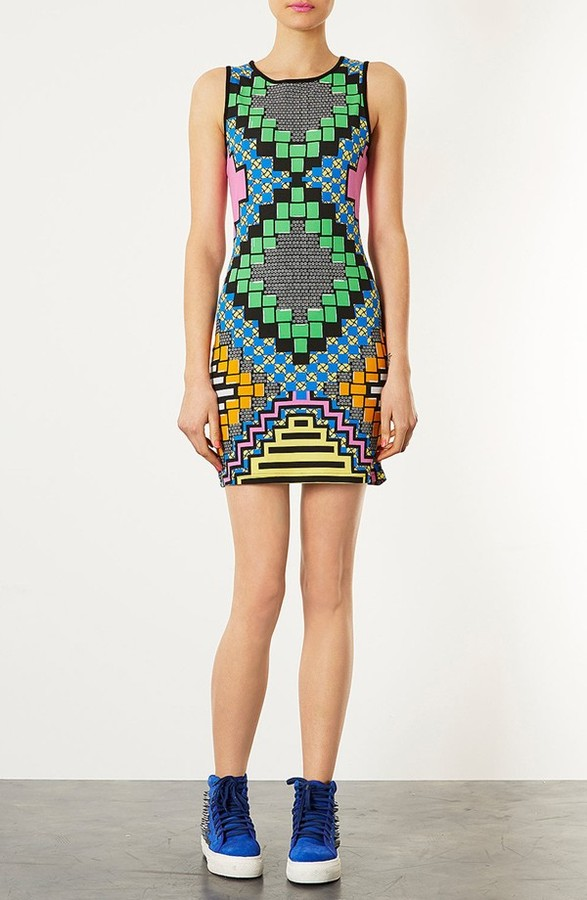 Topshop 'African Party' Body-Con Dress