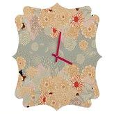 Deny Designs Iveta Abolina Creme De La Creme Quatrefoil Clock