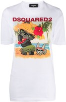 DSQUARED2 holiday pug T-shirt