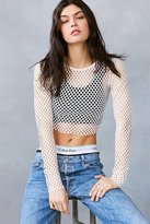 Out From Under Diamond Fishnet Long Sleeve Top