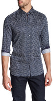Ted Baker Long Sleeve Trim Fit Leaf Shirt