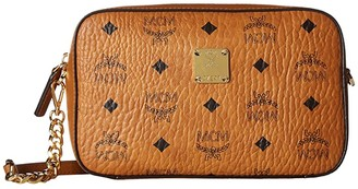MCM Visetos Original Small Leather Goods Others (Cognac) Wallet