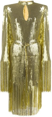 Balmain Sequinned Fringed Dress