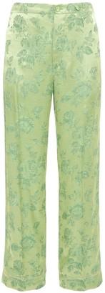 COOL T.M Roses Satin Jacquard Pajama Pants
