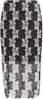 Diane von Furstenberg Bi-colour lace pencil skirt