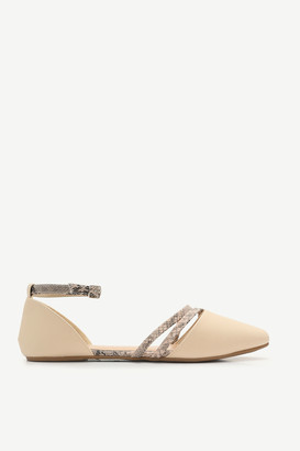 Ardene Pointy Flats with Strap Details