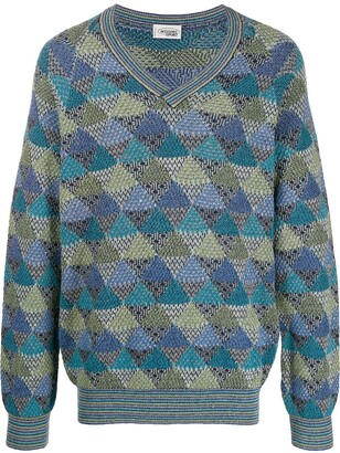 Missoni Pre Owned 1980's Jacquard Geometric Knitted Jumper