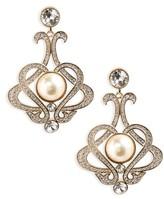Nina Women's Crystal & Imitation Pearl Chandelier Earrings