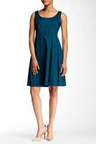 Nine West Bodice Seamed & Pleated Sleeveless Dress
