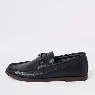 River Island Boys black snaffle loafers