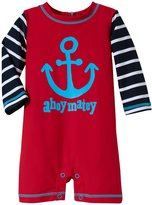 Hatley Graphic Anchors Rash Guard (Baby) - Red - 18-24 Months