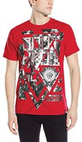 Southpole Men's High Definition Foil and Print T-Shirt with Background Patterns