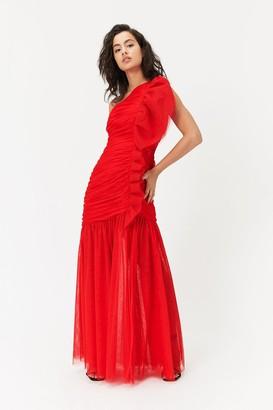Coast One Shoulder Ruched Maxi Dress