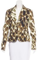 Just Cavalli Abstract Print Notch-Lapel Blazer