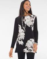 Chico's Stamped Blooms Tunic