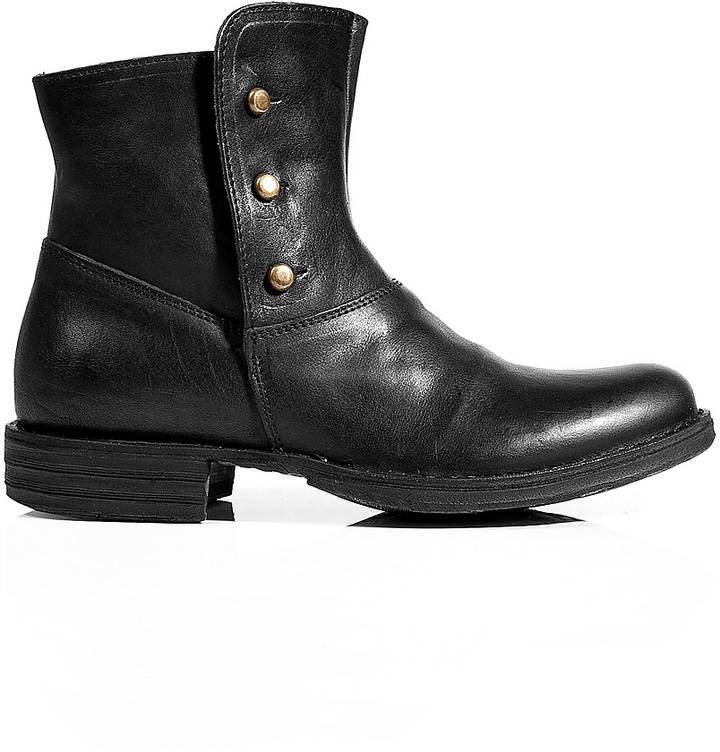 Fiorentini+Baker Fiorentini & Baker Leather Buttoned Ankle Boots in Black