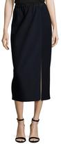 Kimora Lee Simmons Wool Silk Midi Skirt
